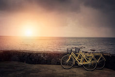 Bicycles by the sea Stock Image