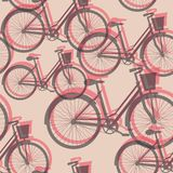 Bicycles seamless background Stock Photography