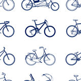 Bicycles seamless pattern Stock Photography