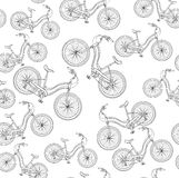 Bicycles, seamless pattern Royalty Free Stock Image