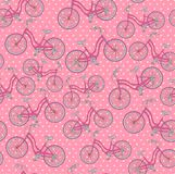 Bicycles, seamless pattern Royalty Free Stock Photo