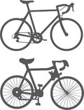 Bicycles silhouette vector Stock Photos
