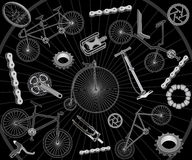 Bicycles and spares Stock Photo