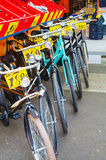 Bicycles at the street on sale in Amsterdam Royalty Free Stock Photos