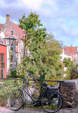 Bicycles in the streets of Bruges Royalty Free Stock Photography