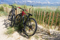 Bicycles on Sylt, germany. Holiday trip with bicycles on Sylt, germany Royalty Free Stock Photography