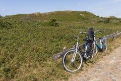 Bicycles at Texel stock image