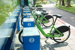 Bicycles. In thai Royalty Free Stock Photography