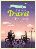 Bicycles travel trip I and my girlfriend Stock Photography