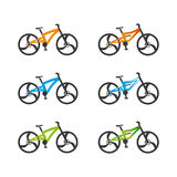 Bicycles. 2 types of bicycles in different colors Stock Image