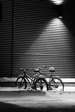Bicycles under snow Royalty Free Stock Images