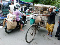 Bicycles. Villagers use bicycles for transportation in Sukoharjo, Central Java, Indonesia Royalty Free Stock Photos