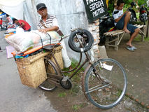 Bicycles. Villagers use bicycles for transportation in Sukoharjo, Central Java, Indonesia Stock Image