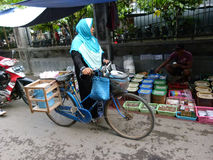 Bicycles. Villagers use bicycles for transportation in Sukoharjo, Central Java, Indonesia Stock Photos