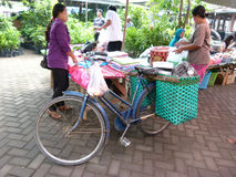 Bicycles. Villagers use bicycles for transportation in Sukoharjo, Central Java, Indonesia Stock Photo