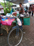 Bicycles. Villagers use bicycles for transportation in Sukoharjo, Central Java, Indonesia Royalty Free Stock Photo