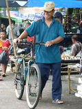 Bicycles. Villagers use bicycles for transportation in Sukoharjo, Central Java, Indonesia Royalty Free Stock Images