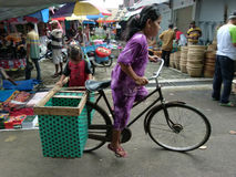 Bicycles. Villagers use bicycles for transportation in Sukoharjo, Central Java, Indonesia Royalty Free Stock Image