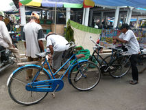 Bicycles. Villagers used bicycles to move in Sukoharjo, Central Java, Indonesia Stock Image