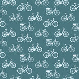 Bicycles vintage pattern Royalty Free Stock Images