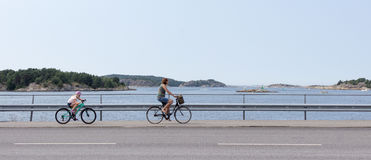 Bicycles on a west coast of Sweden Stock Images