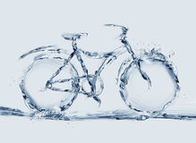 Bicyclette écologique de l'eau Photo libre de droits