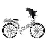Bicyclette abstraite d'imagination Photos libres de droits