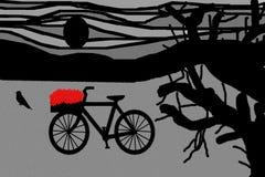 Bicyclette avec des fleurs Image libre de droits