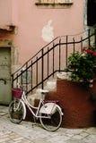 Bicyclette blanche Image libre de droits