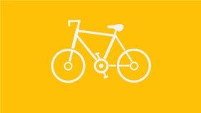 Bicyclette blanche Images libres de droits