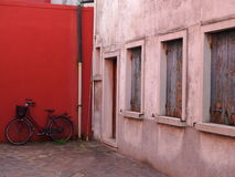 Bicyclette - Burano Images libres de droits