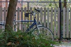 Bicyclette cachée dans l'herbe Photo stock