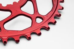 Bicyclette chainring Images stock