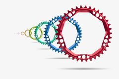 Bicyclette chainring Image libre de droits
