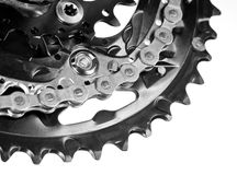 Bicyclette Chainset images stock