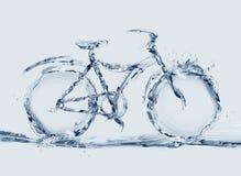 Bicyclette écologique de l'eau Photo libre de droits