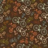 Bicyclette colorée sans couture de vintage de vecteur rétro Photo libre de droits
