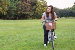 Bicyclette d'équitation Photographie stock