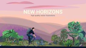 Bicyclette d'équitation d'homme Images libres de droits