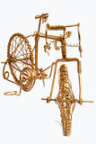 Bicyclette d'art de fil Images libres de droits