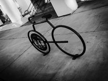 Bicyclette d'hiver Photo libre de droits