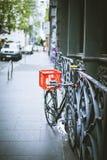 Bicyclette dans la ville de Melbourne Image libre de droits