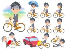 Bicyclette de condition_city de Gray Suit Businessman Bad Illustration Libre de Droits