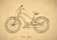 Bicyclette de cru - vecteur dans le rétro type Image libre de droits