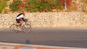 Bicyclette de tour d'hommes Photographie stock