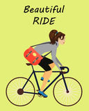 Bicyclette de tour de fille illustration libre de droits