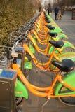 Bicyclette de transport en commun Images libres de droits
