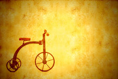 Bicyclette de tricycle d'antiquité de vintage de fond Photos libres de droits