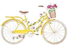 Bicyclette de vélo d'aquarelle illustration de vecteur