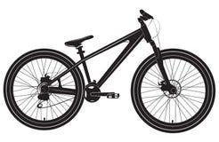 Bicyclette de vélo noire et blanche Images libres de droits